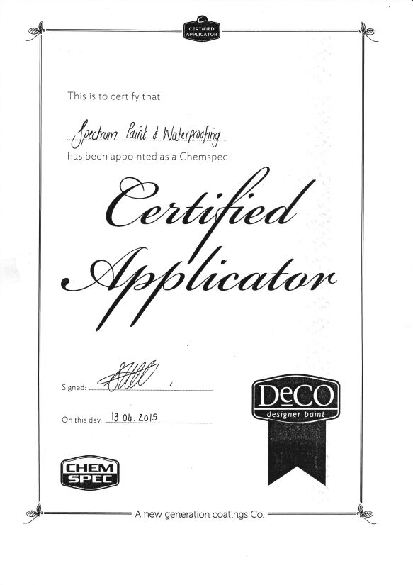 Spectrum Painters is a certified applicator for DECO